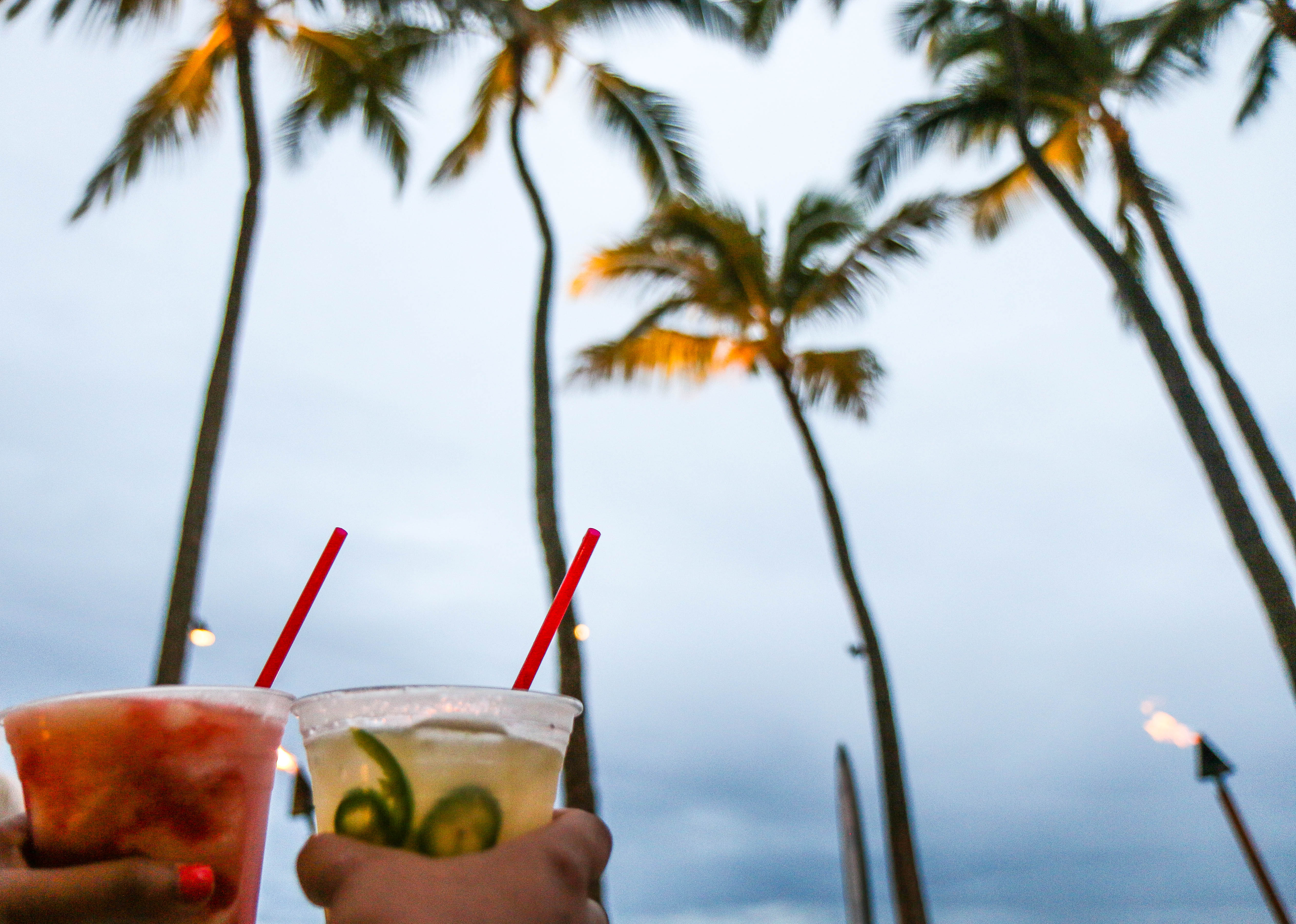 -Drinks in Hawaii are not only pretty, but oh so tasty! I had my share of Mai Tai and Lava Flow!